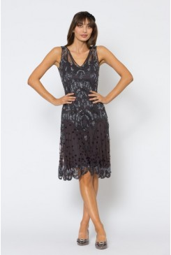 Shimy Shimy Beaded Dress