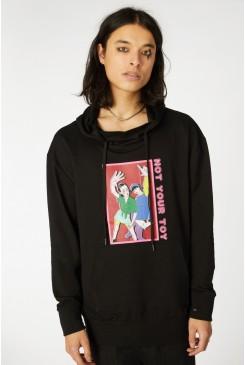 Grunge Printed Hoodie