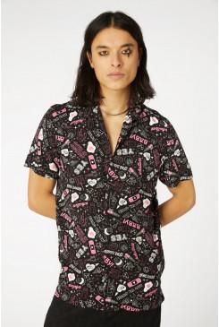 Printed Viscose Goth SS Shirt