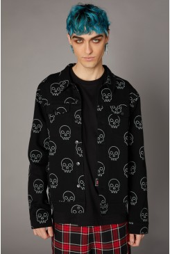 Printed Skull Punk Jacket