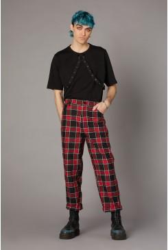 Goth Tartan Red Pant