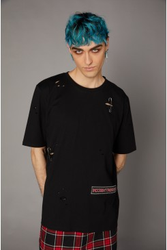 Distressed Patch Tee