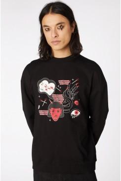 Print Goth Sweater