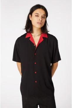 Contrast Collar Visco SS Shirt