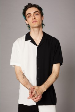 Goth Contrast SS Shirt