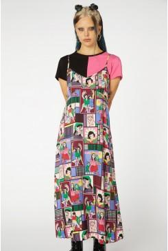 Comic Viscose Slip Dress