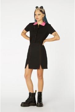Contrast Stitch Goth Skirt
