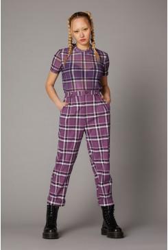 Purple Punk Tartan Pant