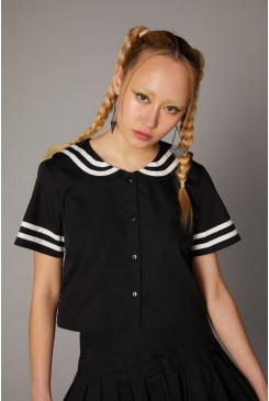 Goth Sailor Creep Blouse