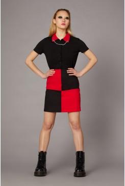 Goth Contrast Mini Skirt