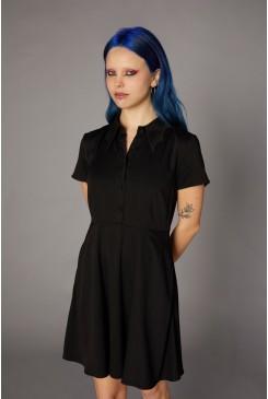 Bat Wing Collar Dress