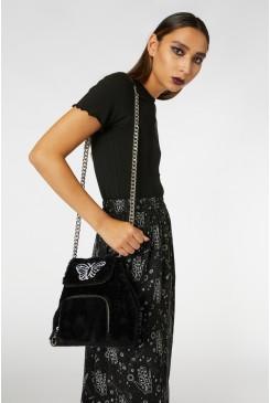 Faux Fur Chain Bag